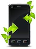 Telefone & seta Fotos de Stock