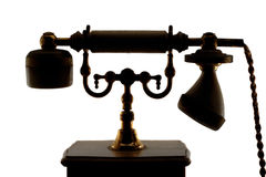 Telefone análogo muito velho imagem de stock