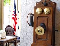 Telefone antigo de Kellogg imagem de stock royalty free