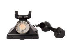 Telefone antigo fora do gancho Fotografia de Stock