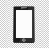 Telefone ao ícone no fundo transparente, vetor do ícone do telefone ilustração stock