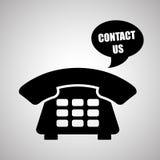 Telefone ao projeto, à tecnologia e ao conceito antigo, vetor editável Imagens de Stock