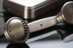 Telefone ao receptor Fotografia de Stock