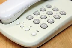 Telefone ao teclado Fotografia de Stock