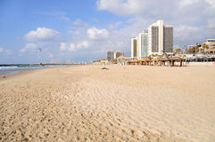 Telefone Aviv Beach Imagens de Stock Royalty Free