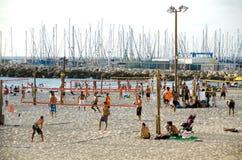 Telefone Aviv Beach Scene Imagem de Stock