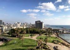 Telefone Aviv City Overview, Israel foto de stock
