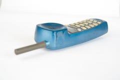Telefone azul foto de stock royalty free