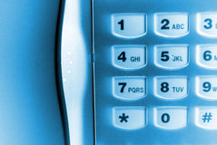 Telefone azul Imagem de Stock Royalty Free