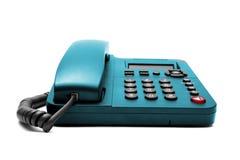 Telefone azul isolado no fundo branco Fotografia de Stock