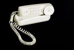Telefone branco Foto de Stock Royalty Free