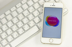 Telefone branco com teclado Imagens de Stock Royalty Free