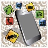 Telefone celular ilustração do vetor