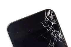 Telefone celular com exposição quebrada Imagens de Stock