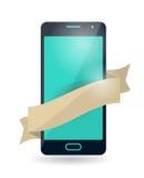 Telefone celular com fita Fotografia de Stock Royalty Free