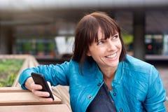 Telefone celular da mulher Imagens de Stock