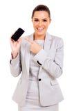 Telefone celular da mulher de negócios foto de stock
