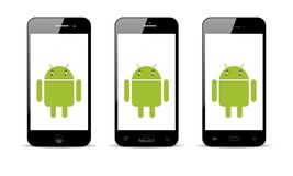 Telefone celular de Android Imagens de Stock