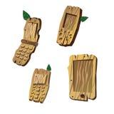 Telefone celular de madeira Fotos de Stock