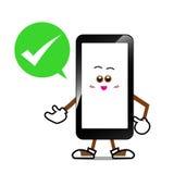 Telefone celular, desenhos animados espertos do telefone Imagem de Stock Royalty Free