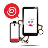 Telefone celular, desenhos animados espertos do telefone Fotos de Stock Royalty Free