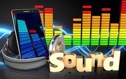 telefone celular do sinal 'do som 3d' ilustração stock