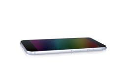 Telefone celular do tela táctil isolado Imagens de Stock Royalty Free