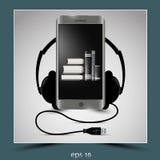 Telefone celular e fones de ouvido Imagens de Stock Royalty Free