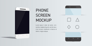 Telefone celular isométrico minimalistic da ilustração 3d do vetor Opinião de perspectiva Fotografia de Stock