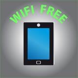 Telefone celular no fundo cinzento Imagens de Stock Royalty Free