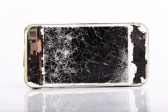 Telefone celular quebrado Fotografia de Stock Royalty Free