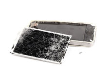Telefone celular quebrado Foto de Stock