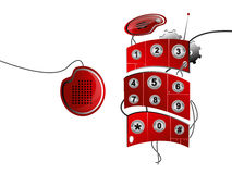 Telefone celular vermelho Ilustração Stock