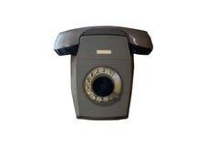 Telefone cinzento velho isolado Fotografia de Stock