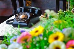 Telefone clássico da cor Fotos de Stock Royalty Free