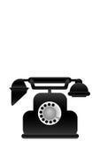 Telefone clássico do preto da ilustração do vetor Fotos de Stock Royalty Free