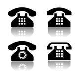 Telefone a coleção do ícone Fotografia de Stock