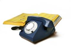 Telefone com a agenda de telefones Imagem de Stock Royalty Free