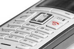 Telefone com chave vermelha Fotos de Stock Royalty Free