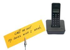 Telefone com memorando fotos de stock