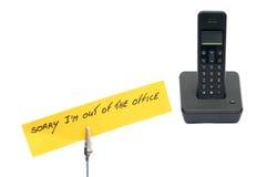 Telefone com um memorando fotografia de stock