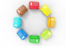 Telefone - conceito da diversidade da cor ilustração do vetor