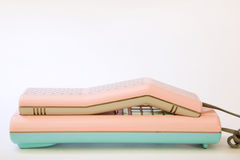 Telefone cor-de-rosa Imagens de Stock