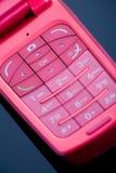 Telefone cor-de-rosa Imagens de Stock Royalty Free
