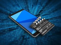telefone 3D móvel Fotos de Stock