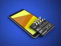 telefone 3D móvel Fotografia de Stock Royalty Free