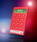 Telefone da emergência ilustração stock