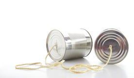Telefone da lata de estanho imagens de stock royalty free