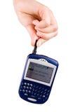 Telefone da mão e de pilha imagens de stock royalty free