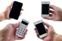 Telefone da posse da mão Fotos de Stock